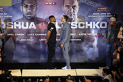 27 April 2017 - Boxing - Anthony Joshua v Wladimir Klitschko Press conference - The fighters go head to head - Photo: Marc Atkins / Offside.