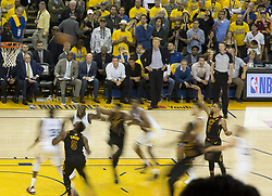 May 31, 2018 - Oakland, California, U.S - George Hill #3 of the Cleveland  Cavaliers takes a shot  during  their NBA Championship Game 1 with the Golden  State Warriors  at Oracle Arena in Oakland, California on  Thursday,  May 31, 2018. (Credit Image: © Prensa Internacional via ZUMA Wire)