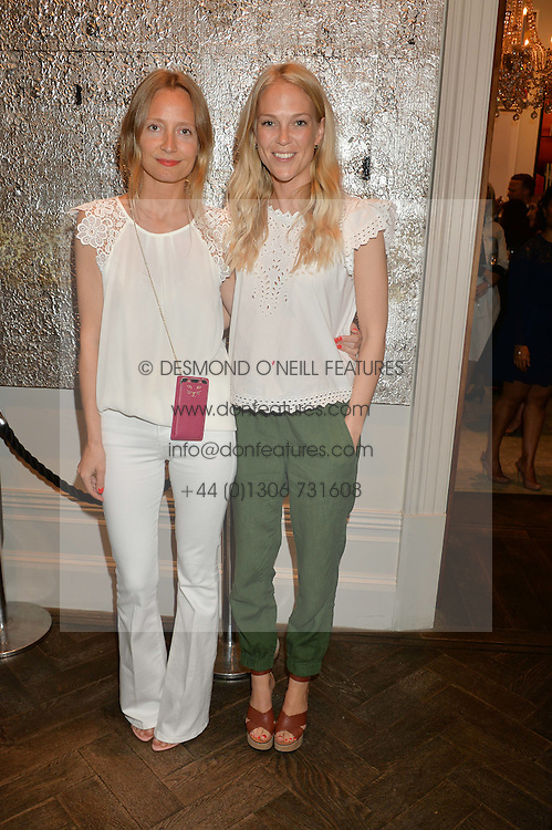 Left to right, MARTHA WARD and LADY NATASHA HOWARD at the Creme de la Mer Blue Marine Foundation Dinner held at The Arts Club, 40 Dover Street, London on 23rd June 2015.