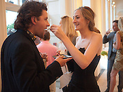 CHARLIE DAY; VIOLET NAYLOR-LEYLAND, Alexandra Shulman, Editor of Vogue & Phil Popham, Managing Director of Land Rover<br /> host the 40th Anniversary of Range Rover. The Orangery at Kensington Palace. London. 1 July 2010. -DO NOT ARCHIVE-© Copyright Photograph by Dafydd Jones. 248 Clapham Rd. London SW9 0PZ. Tel 0207 820 0771. www.dafjones.com.