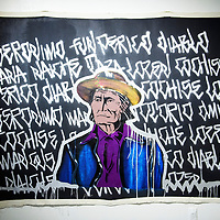 """""""Geronimo Was An Artist"""" by Douglas Miles currently on display at the Ingham Chapman Gallery inside Gurley Hall at the University of New Mexico Gallup."""