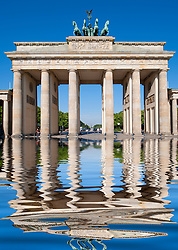 Brandenburg Gate on Unter Den Linden in Mitte Berlin Germany