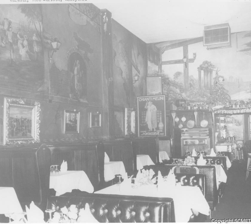1968 Chianti Restaurant on Melrose Ave.