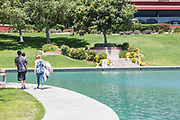 People Walking at Temecula Duck Pond Park