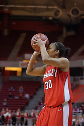 26 February 2009: Monica Rogers. The Braves of Bradley  and the Illinois State Redbirds battled it out on Doug Collins Court inside Redbird Arena on the campus of Illinois State University, Normal Il.