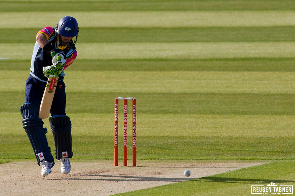 Jacques Rudolph of Yorkshire Carnegie bats against Durham Dynamos at the Emirates Durham ICG.