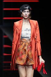 February 21, 2019 - Milan Italy - Emporio Armani Fashion Show MFW Fashion Show MFW Womens Fall Winter 2019 - 2020 Fashion show, Milan Italy. (Credit Image: © Canio Romaniello/Soevermedia via ZUMA Press)