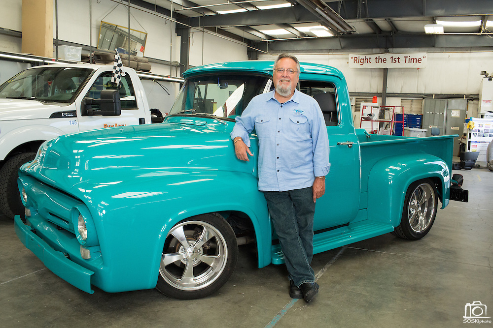 Founder Rich Mello poses for a portrait at T.G.I.F. Body Shop, Inc., in Fremont, California, on April 17, 2014. (Stan Olszewski/SOSKIphoto)