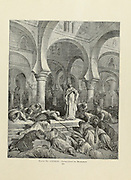 Invocation to Mahomet [Mehmet or Mehmed II (1432–1481), commonly known as Mehmed the Conqueror] Plate LXXXIX from the book Story of the crusades. with a magnificent gallery of one hundred full-page engravings by the world-renowned artist, Gustave Doré [Gustave Dore] by Boyd, James P. (James Penny), 1836-1910. Published in Philadelphia 1892