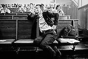 """Stefano Fassina durante la presentazione del Rapporto sullo Stato Sociale 2015 dal titolo """"La grande recessione e il welfare state"""". Università La Sapienza, Roma 02 Giugno 2015. Christian Mantuano / OneShot<br /> <br /> Stefano Fassina during the presentation of the Report on the Welfare State in 2015 entitled """"The Great Recession and the welfare state."""" La Sapienza University, Rome on June 2, 2015. Christian Mantuano / OneShot"""