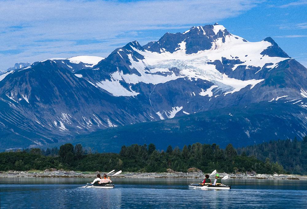Norma and Gene Turner, Pat and John Willits, Scidmore Bay, Glacier Bay National Park, Alaska, USA
