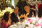 JOHANN RUPERT; LADY MARCH, The Cartier Chelsea Flower show dinner. Hurlingham club, London. 20 May 2013.