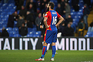Joe Ledley of Crystal Palace is dejected at the final whistle. Premier League match, Crystal Palace v Sunderland at Selhurst Park in London on Saturday 4th February 2017. pic by Steffan Bowen, Andrew Orchard sports photography.