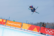 Rowan Chesire, Great Britain, during the womens skiing halfpipe finals at the Pyeongchang 2018 Winter Olympics on February 20th 2018, at the Phoenix Snow Park in Pyeongchang-gun, South Korea.