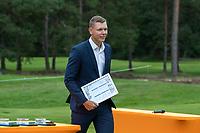 HILVERSUM -  Matthias Schmid (Ger) Prizewinning ceremony.    ELTK Golf 2020 The Dutch Golf Federation (NGF), The European Golf Federation (EGA) and the Hilversumsche Golf Club will organize Team European Championships for men.  COPYRIGHT KOEN SUYK