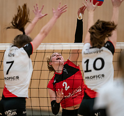 Elles Dambrink of VCN in action during the first league match between Laudame Financials VCN vs. Apollo 8 on February 06, 2021 in Capelle aan de IJssel.
