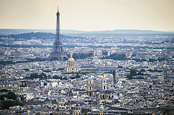 An aerial picture taken on July 11, 2019 over Paris, France, shows the Eiffel Tower. Photo by Eliot Blondet/ABACAPRESS.COM  Tour Eiffel Eiffel Tower Illustration Illustration  | 691544_001 Paris France