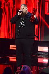 Rag N Bone man presents the Critics Choice award to Jorja at the Brit Awards 2018 Nominations event held at ITV Studios on Southbank, London.