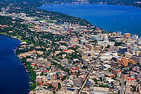 City Centre & State Street with Lake Monona in background