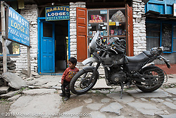 Lunch stop in Tatopani on day-4 of our Himalayan Heroes adventure riding from Pokhara to Kalopani, Nepal. Friday, November 9, 2018. Photography ©2018 Michael Lichter.