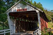 Cutler-Donahoe Bridge; Photograph of the Bridges of Madison County, Winterset, Iowa, USA.