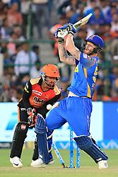 April 29, 2018 - Jaipur, Rajasthan, India - Rajasthan Royals batsman Ben Stokes bowled during the IPL T20 match against Sunrisers  Hyderabad at Sawai Mansingh Stadium in Jaipur on 29th April,2018. (Credit Image: © Vishal Bhatnagar/NurPhoto via ZUMA Press)