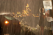 """Israeli Actress Keren Mor distressed in the rain in a scene from the Movie """"Joy"""" (Directed by Julia Shalez)"""