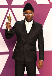 "Mahershala Ali, winner of the Best Actor In A Supporting Role Award for ""Green Book"" at the 91st Annual Academy Awards (Oscars) presented by the Academy of Motion Picture Arts and Sciences.<br /> (Hollywood, CA, USA)"