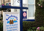 Guest House bed and breakfast sign, Lowestoft, Suffolk, England