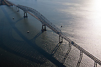 Aerial Photo of Francis Scott Key Bridge in Baltimore Artistic view from above Silhouette