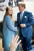 Koningsdag 2019 in Amersfoort / Kingsday 2019 in Amersfoort.<br /> <br /> Op de foto: Koning Willem Alexander en Prinses Amalia  ///  Princess Amalia and King Willem Alexander