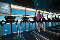 Senses (fitness area) on the new Disney Dream cruise ship sailing between Florida and the Bahamas.