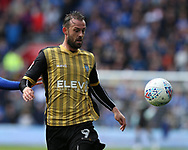 Steven Fletcher of Sheffield Wednesday in action .EFL Skybet championship match, Cardiff city v Sheffield Wednesday at the Cardiff City Stadium in Cardiff, South Wales on Saturday 16th September 2017.<br /> pic by Andrew Orchard, Andrew Orchard sports photography.