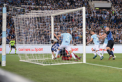 May 20, 2018 - Rome, Italy - Danilo D'Ambrosio score goal 1-1 during the Italian Serie A football match between S.S. Lazio and F.C. Inter at the Olympic Stadium in Rome, on may 20, 2018. (Credit Image: © Silvia Lore/NurPhoto via ZUMA Press)