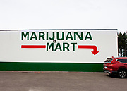 The Marijuana Mart is a small, legal business in Western Washington State off I-5. Cannabis, also known as marijuana among other names, iis a psychoactive drug from the Cannabis plant used primarily for medical and recreational purposes.Tetrahydrocannabinol (THC) is the main psychoactive component of cannabis, which is one of the 483 known compounds in the plant,[21] including at least 65 other cannabinoids,[22] including cannabidiol (CBD).[23] Cannabis can be used by smoking, vaporizing, within food, or as an extract.[24]<br /> <br /> Cannabis has various mental and physical effects, which include euphoria, altered states of mind and sense of time, difficulty concentrating, impaired short-term memory and body movement,[24] relaxation,[25] and an increase in appetite.[26] Onset of effects is felt within minutes when smoked, and about 30 to 60 minutes when cooked and eaten.[24][27] The effects last for two to six hours, depending on the amount used.[27] At high doses, mental effects can include anxiety, delusions (including ideas of reference), hallucinations, panic, paranoia, and psychosis.[24][23] There is a strong relation between cannabis use and the risk of psychosis,[28][29] though the direction of causality is debated.[30] Physical effects include increased heart rate, difficulty breathing, nausea, and behavioral problems in children whose mothers used cannabis during pregnancy;[24] short-term side effects may also include dry mouth and red eyes.[31][32] Long-term adverse effects may include addiction, decreased mental ability in those who started regular use as adolescents, chronic coughing, and susceptibility to respiratory infections.[33]<br /> <br /> Cannabis is mostly used recreationally or as a medicinal drug, although it may also be used for spiritual purposes. In 2013, between 128 and 232 million people used cannabis (2.7% to 4.9% of the global population between the ages of 15 and 65).[34] It is the most commonly used illegal drug in the world,[24][34