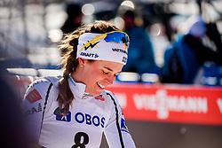 March 16, 2018 - Falun, SVERIGE - 180316 Sveriges Anna Dyvik deppar efter finalen i sprint under Svenska Skidspelen den 16 mars 2018 i Falun  (Credit Image: © Simon HastegRd/Bildbyran via ZUMA Press)