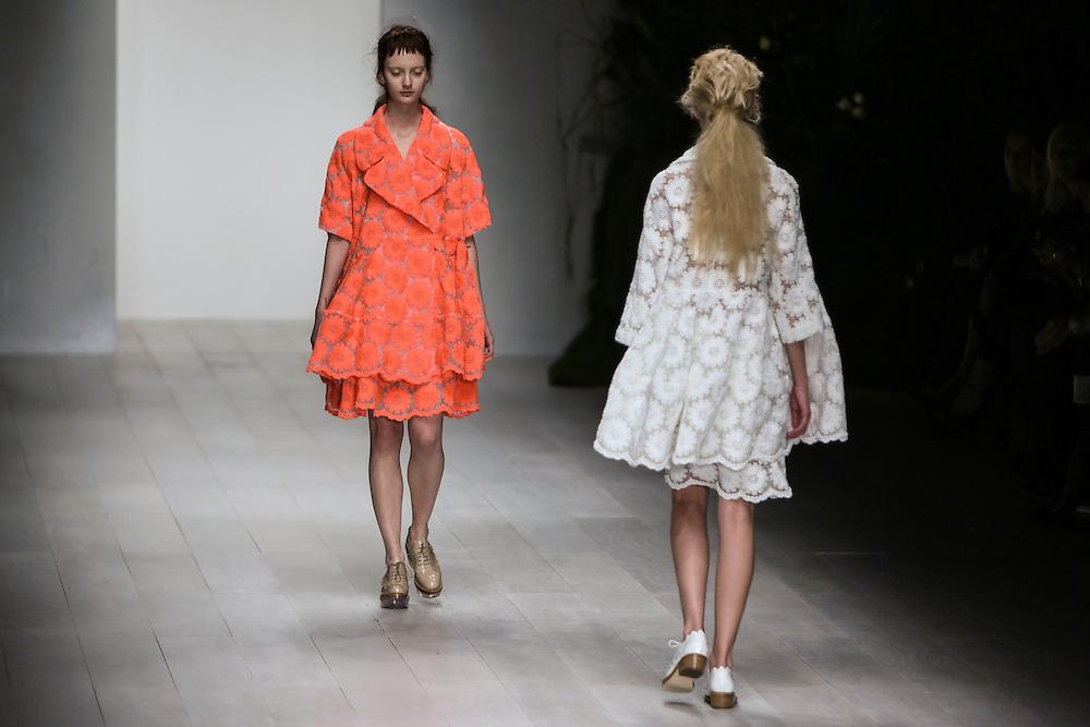 Simone Rocha show during London Fashion Week, Spring/Summer 2013