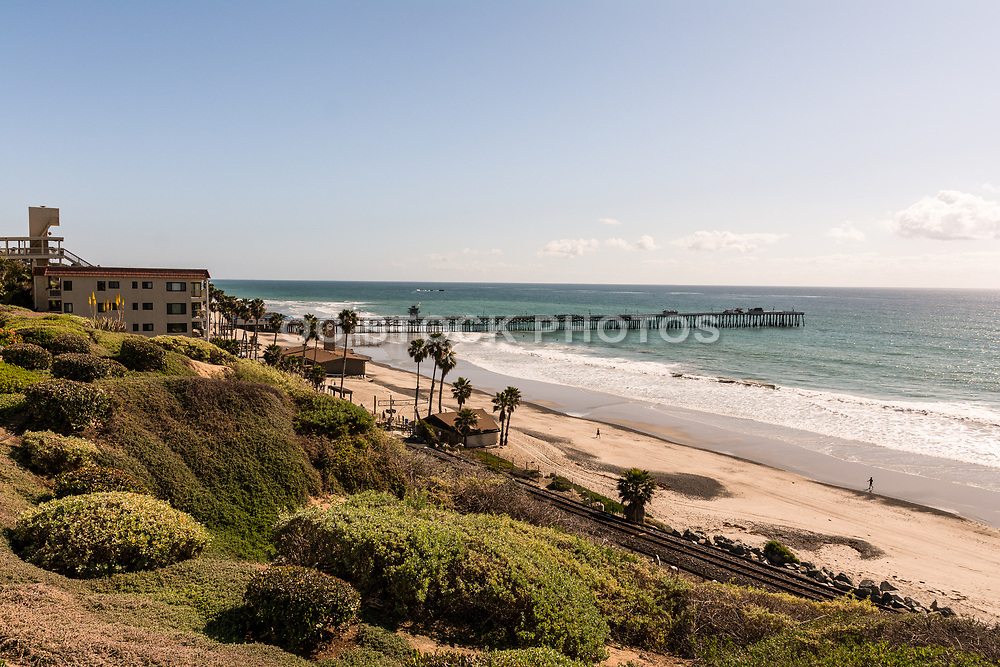A View Of San Clemente Pier From The Bluffs Looking South
