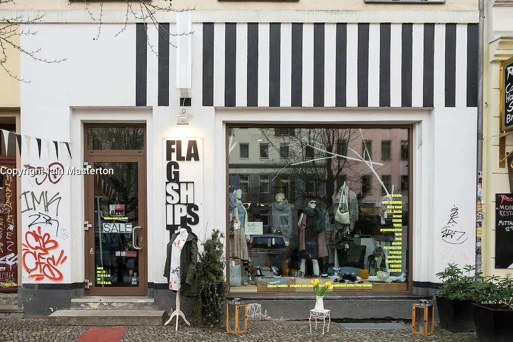 Exterior of Flagshipstore fashion shop in Prenzlauer Berg district of Berlin, Germany