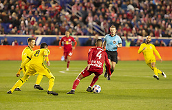STYLEPREPENDTyler Adams (4) of Red Bulls controls ball during 2nd leg MLS Cup Eastern Conference semifinal game against Columbus Crew SC at Red Bul Arena Red Bulls won 3 - 0 agregate 3 - 1 and progessed to final  (Credit Image: © Lev Radin/Pacific Press via ZUMA Wire)