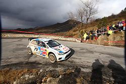 17.01.2014, Stage 10, Sisteron, FRA, FIA, WRC, Rallye Monte Carlo, 2. Tag, im Bild OGIER Sebastien / INGRASSIA Julien ( VOLKSWAGEN MOTORSPORT (DEU) / VOLKSWAGEN POLO R ), Aktion / Action // during Stage 10 on day two of FIA Rallye Monte Carlo held near Monte Carlo, France on 2014/01/17. EXPA Pictures © 2014, PhotoCredit: EXPA/ Eibner-Pressefoto/ Neis<br /> <br /> *****ATTENTION - OUT of GER*****