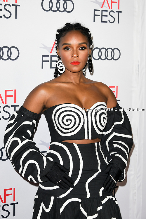 """JANELLE MONAE attends the """"Queen & Slim"""" Premiere at AFI FEST 2019 presented by Audi at the TCL Chinese Theatre in Hollywood, California."""