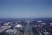 CS01922. Washington DC mall about 1942. Looking east from the Washington Monument to the Capitol.