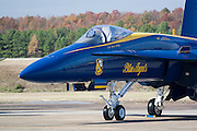 """Arkansas, AR, USA, Airpower Arkansas 2006 was held at the Little Rock Air Force base November 2006 participation of the Air Force, Navy, National Guard and civilian aerobatics aviators. McDonnell Douglas F/A-18 Hornet the """"Blue Angels"""" aerobatic team"""