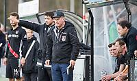 BLOEMENDAAL - coach Graham Reid (A'dam) met links assistent-coach Joost Bitterling (A'dam)  . Hockey hoofdklasse heren, Bloemendaal-Amsterdam (2-0) . COPYRIGHT KOEN SUYK
