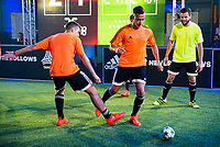 "Real Madrid players Lucas Vazquez and Nacho Fernandez during the presentation of the new pack of Adidas football shoes ""Speed of Light"" in Madrid. September 16, 2016. (ALTERPHOTOS/Borja B.Hojas)"
