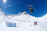 Nick Goepper during  Ski Slopestyle Practice at the 2013 X Games Tignes in Tignes, France. ©Brett Wilhelm/ESPN