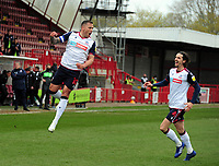 Football - 2020 / 2021 Sky Bet League Two - Crawley Town vs Bolton Wanderers - The People's Pension Stadium<br /> <br /> Antoni Sarcevic of Bolton celebrates scoring his first half goal<br /> <br /> Credit : COLORSPORT/ANDRTEW COWIE