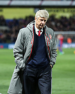 Arsenal's Arsene Wenger looks on dejected at the final whisle during the Premier League match at Selhurst Park Stadium, London. Picture date: April 10th, 2017. Pic credit should read: David Klein/Sportimage