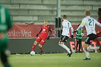 Fotball<br /> 24.11.2018<br /> Eliteserien<br /> Brann Stadion<br /> Brann - Odd<br /> Taijo Teniste (L) , Brann<br /> Birk Risa (M) og Steffen Hagen (R) , Odd<br /> Foto: Astrid M. Nordhaug